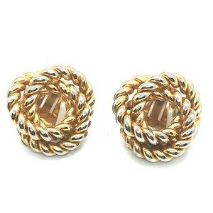 VTG Rope Swirl Clip On Earrings